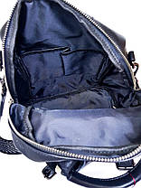 Кожаная женская сумка-рюкзак Farfalla Rosso Черный (01076), фото 2