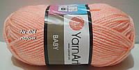 Нитки пряжа для вязания акриловая BABY YarnArt Беби Ярнарт № 204 - персик