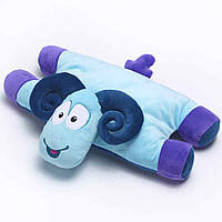 Детская подушка-игрушка для путешествий Travel Blue Sammy the Ram Travel Pillow Барашек Голубой (287)