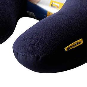 Подушка для путешествий под шею Travel Blue Micro Pearls Темно-синяя (230G), фото 2