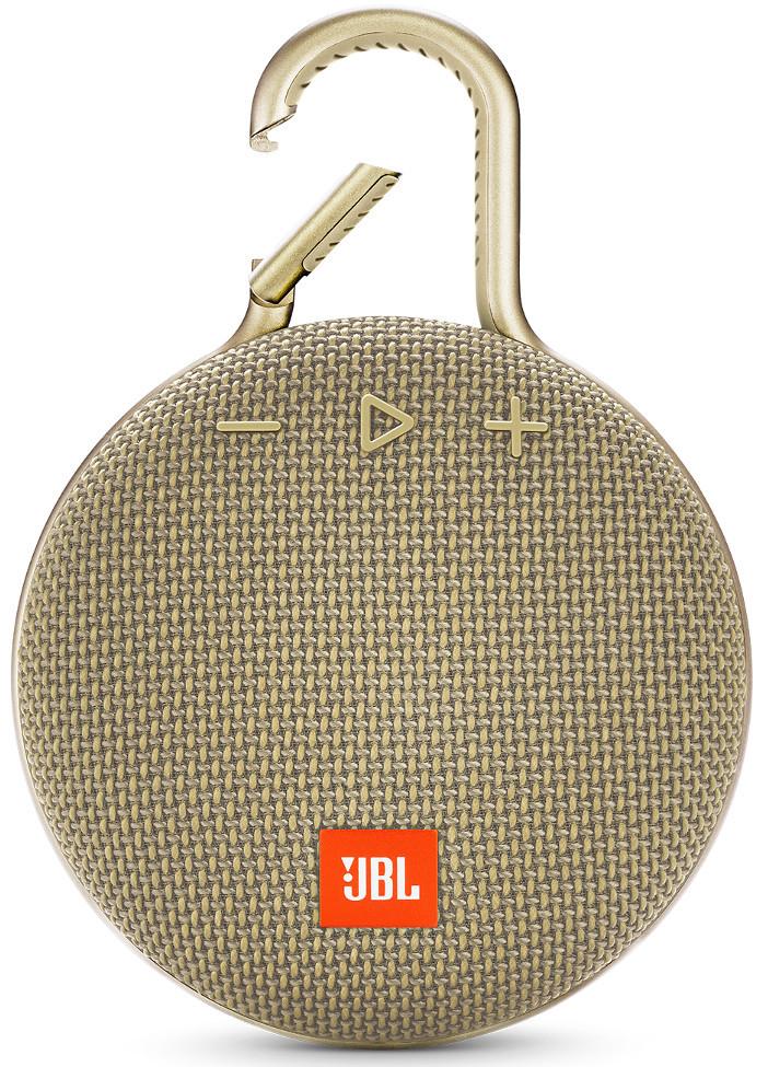 Портативная колонка JBL Clip 3 Gold (JBLCLIP3SAND)