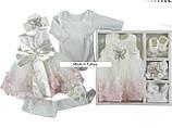 Нарядный набор одежды на выписку / крещение для девочки