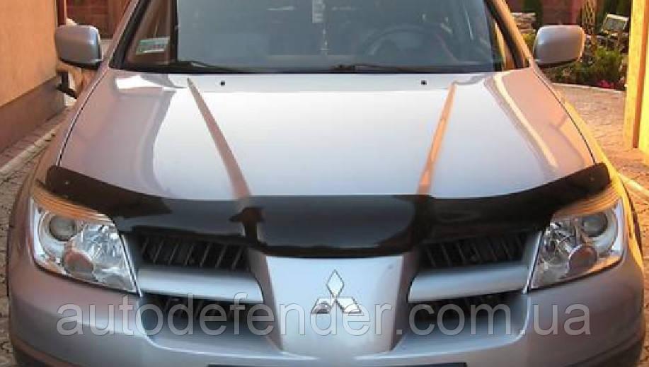 Дефлектор капота (Люкс!) мухобойка Mitsubishi Outlander I 2003-2008, SIM, SMIOUT0012