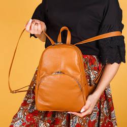 Рюкзак рудий шкіряний жіночий. колір шкіри можна будь-який. Виробник Україна