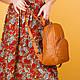 Рюкзак рыжий кожаный женский. цвет кожи можно любой. Производитель Украина, фото 2