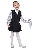 """Жилет для девочки школьный М-1037 рост 116 122 128 134 140 146 152 158 164 и 170 черный тм """"Попелюш, фото 1"""