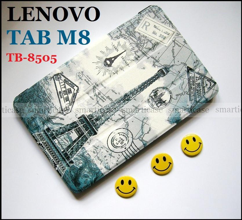 Чехол книжка c Эйфелевой башней для Lenovo Tab M8 (tb-8505X tb8505F)