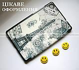 Чехол книжка c Эйфелевой башней для Lenovo Tab M8 (tb-8505X tb8505F), фото 5
