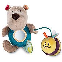 Ручная игрушка-погремушка Lilliputiens медведь Цезарь (83027)