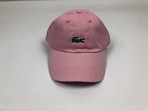 Кепка бейсболка Lacoste большое лого (розовая)