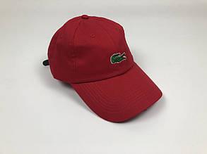 Кепка бейсболка Lacoste большое лого (красная)