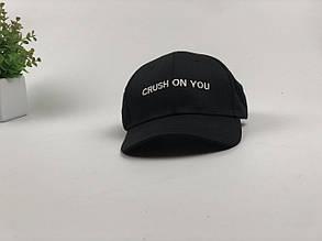Кепка бейсболка Crush on you (черная)