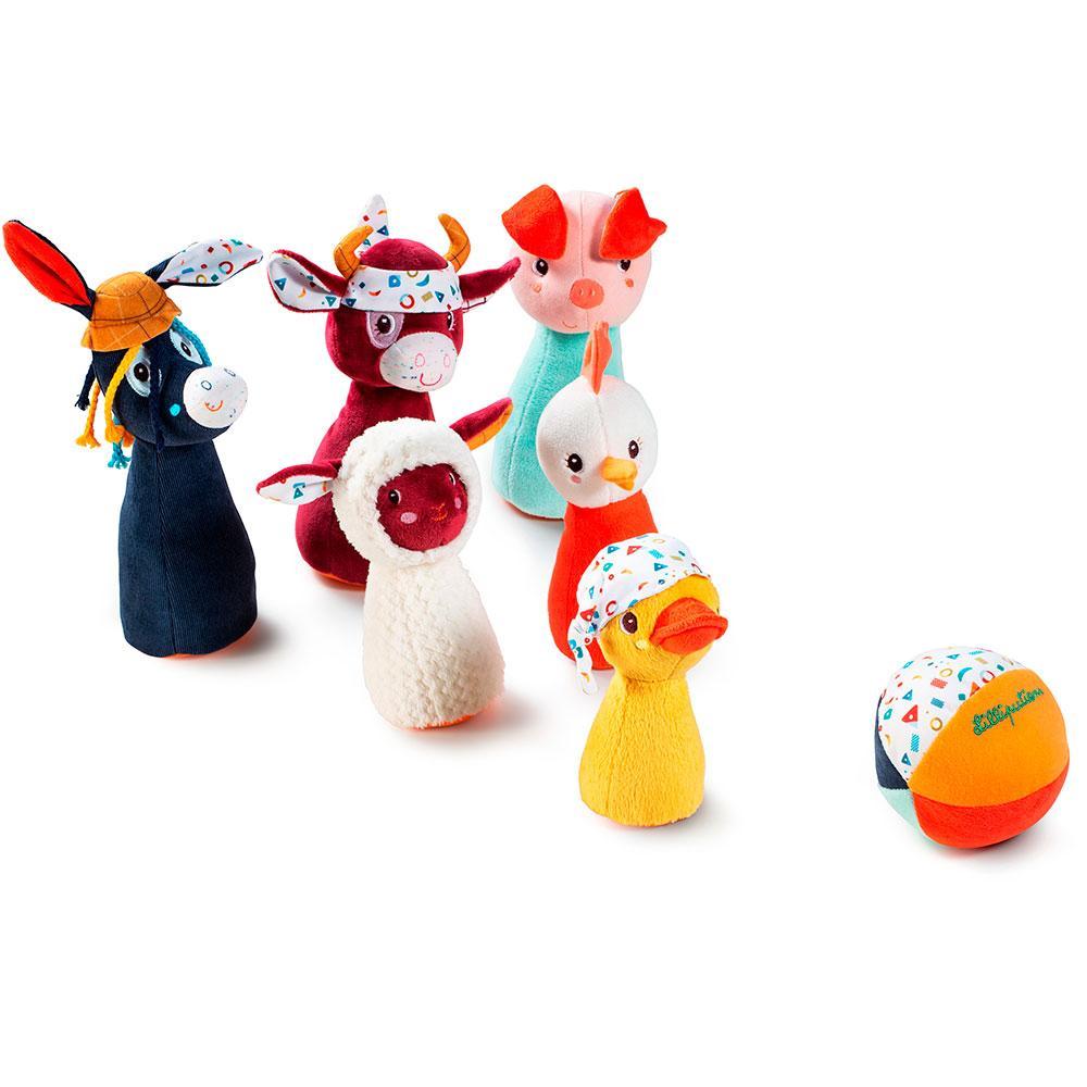 Набір для дитячого боулінгу Lilliputiens Ферма (83159)