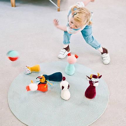 Набір для дитячого боулінгу Lilliputiens Ферма (83159), фото 2