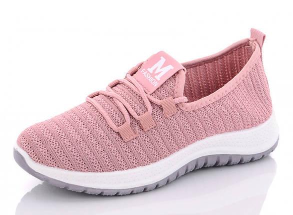Кроссовки летние женские из сетки розовые MFashion 1172557102, фото 2