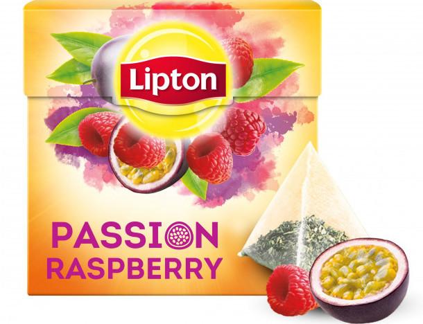 Чай Липтон черный пакетированный, Чай черный в пакетиках Lipton Passion Raspberry 20 пакетиков