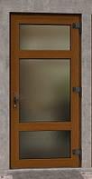Входные металлопластиковые  двери 2050*850 наружная ламинация