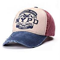 Кепка бейсболка в стиле Nypd (женская, мужская, унисекс) разноцветная, синяя, красная, хлопковая