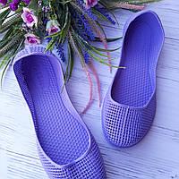 Женские мыльницы фиолетовые,кроксы,обувь летняя