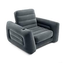 Кресло раскладное надувное с подстаканником 117х224х66 Intex 66551 NP