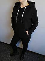 Спортивный костюм женский черный однотонный Exclusive трехнитка на флисе Размер 42