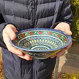 УЦЕНКА. Тарелка глубокая d ~22 cm ручной работы из Узбекистана, фото 3
