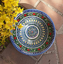 УЦЕНКА. Тарелка глубокая d ~22 cm ручной работы из Узбекистана
