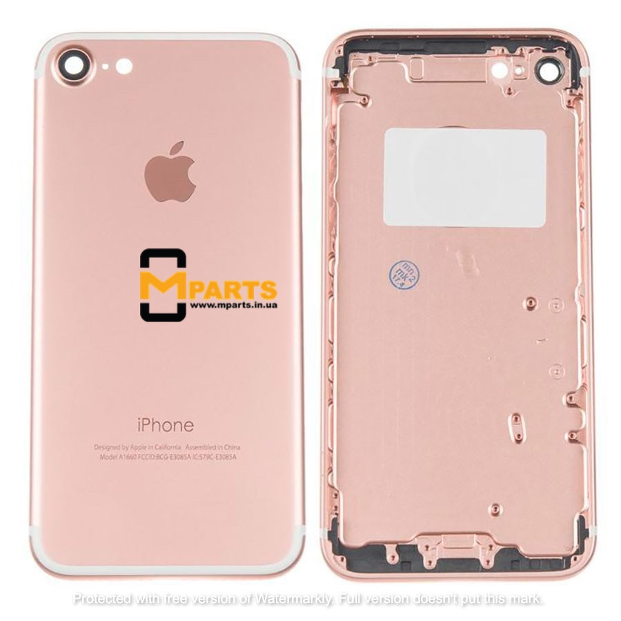 Крышка корпус для iPhone 7 back cover rose gold