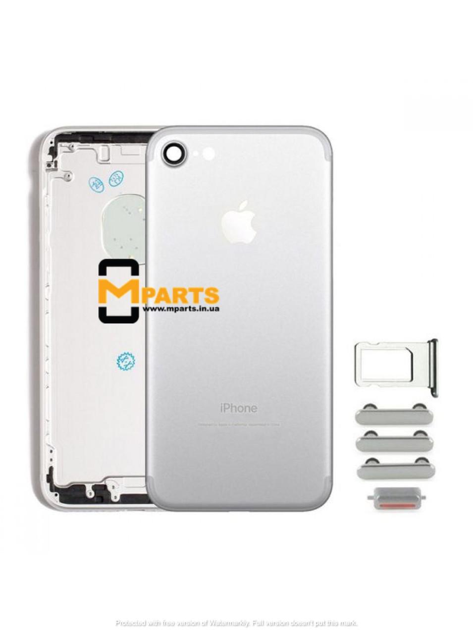 Крышка корпус для iPhone 7 back cover silver