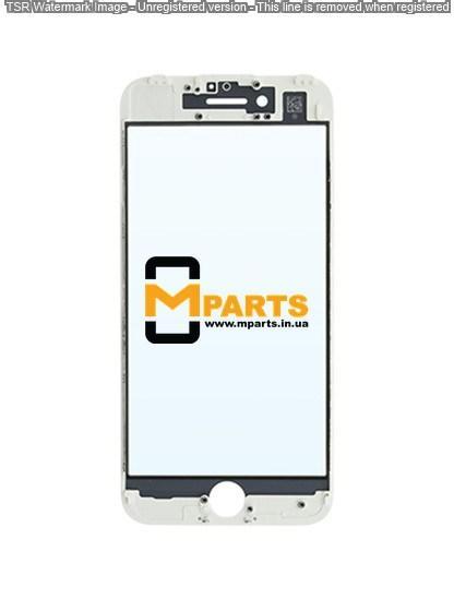 Стекло для переклейки с OCA пленкой для iPhone 7 glass + OCA Film with frame white