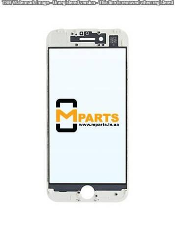 Стекло для переклейки с OCA пленкой для iPhone 7 glass + OCA Film with frame white, фото 2