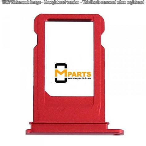 Лоток для iPhone 7 (Sim холдер) red orig, фото 2