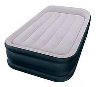 Кровать одноместная надувная с подголовником встроенный насос 220V 191х99х42 Intex 64132