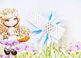 Пов'язка дитяча для волосся біла з синім 00134, фото 3
