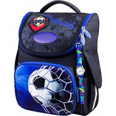 Рюкзак для мальчика Winner черный с футбольным мячом  2048