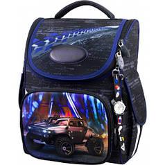 Рюкзак для мальчика Winner черный с машиной 2049