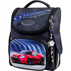 Рюкзак для мальчика Winner черный с машиной  2051