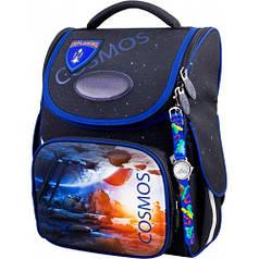 Рюкзак для мальчика Winner черный с космосом 2052
