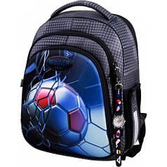 Рюкзак для мальчика Winner черный с футбольным мячом 5007
