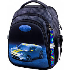 Рюкзак для мальчика Winner черный с машиной 5008