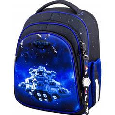Рюкзак для мальчика Winner черный с космосом 5009