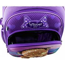 Рюкзак для девочки Winner фиолетовый с мишкой  7006, фото 2