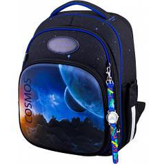 Рюкзак для мальчика Winner черный с космосом 7009
