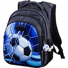Рюкзак для мальчика Winner черный с футбольным мячом R2-168