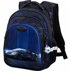 Рюкзак для мальчика Winner черный с машиной R2-169