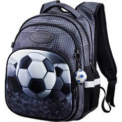 Рюкзак для мальчика Winner черный с футбольным мячом R3-224