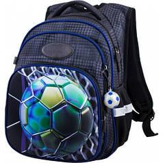 Рюкзак для мальчика Winner черный с мячом  R3-226
