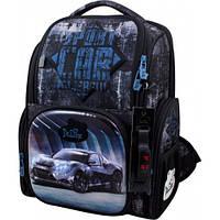 Рюкзак для мальчика Delune черный с машиной 11-032