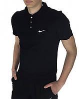 Футболка Polo Nike (Найк) черная, фото 1