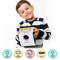 Мини проектор Kids Story Projector Q2 Бело-жёлтый, фото 3